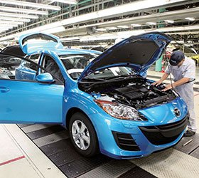 Automotive production increased
