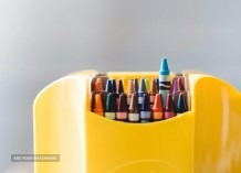 Colorfull crayons