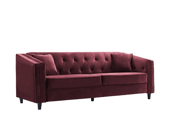 Tufted Velvet Sofa Living Room Couch