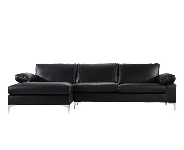Large Faux Leather Sectional Sofa