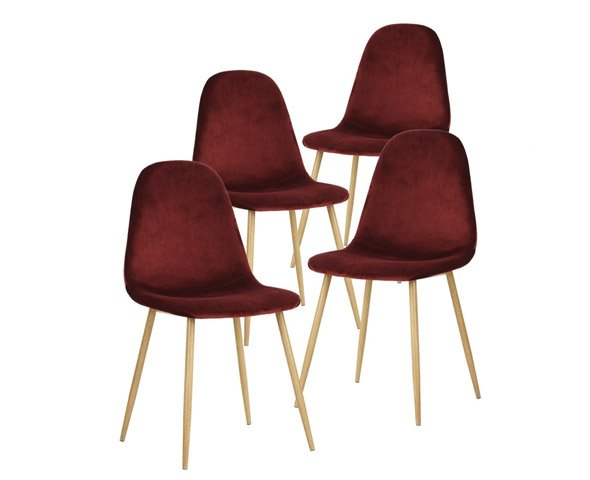 Outstanding Greenforest Dining Chairs For Kitchen Elegant Velvet Back And Cushion Mid Century Modern Side Ncnpc Chair Design For Home Ncnpcorg
